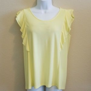 Yellow ruffled top